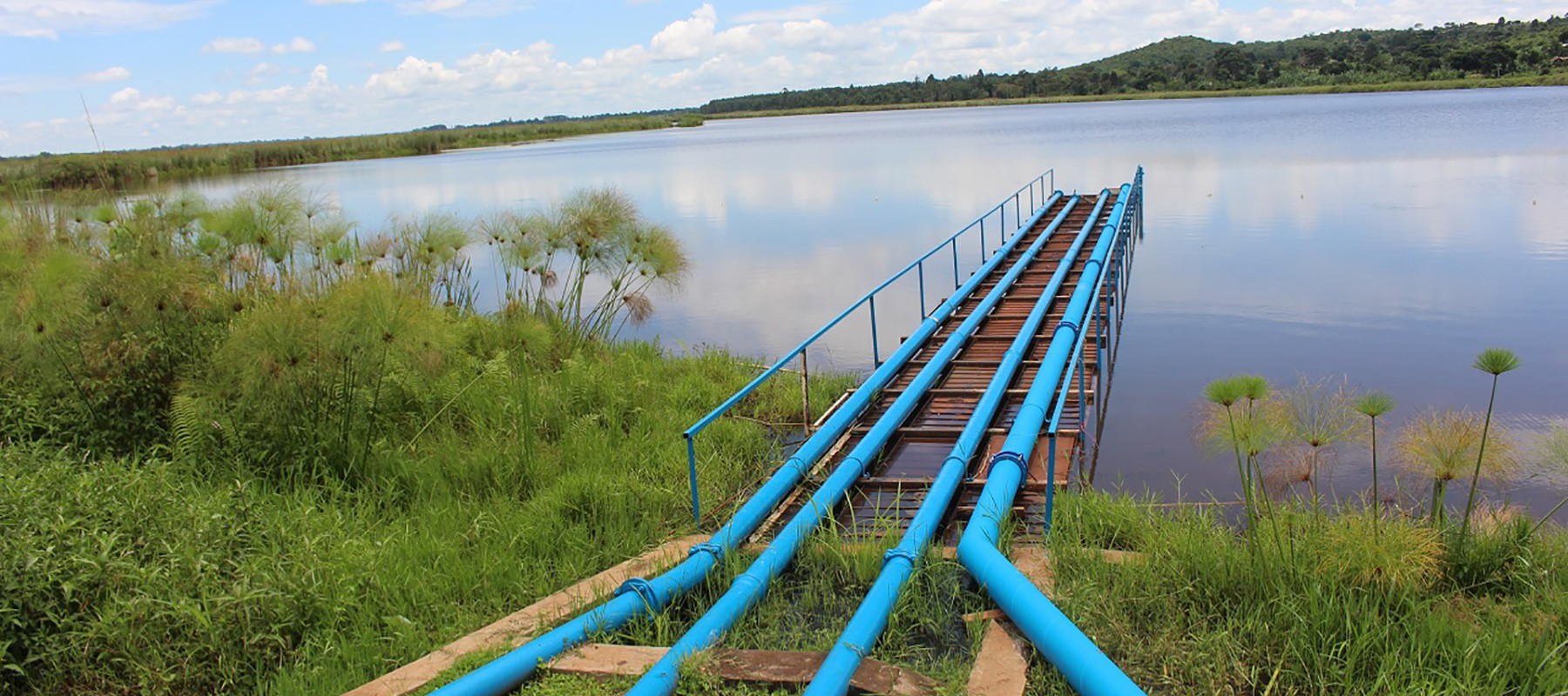 Pipes going into lake victoria