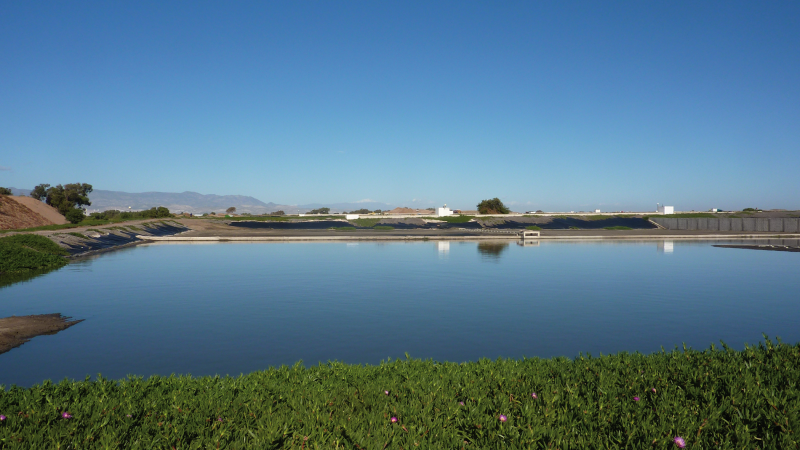 Agadir urban wastewater treatment – M'zar station – Secondary treatment (lagoon basin)
