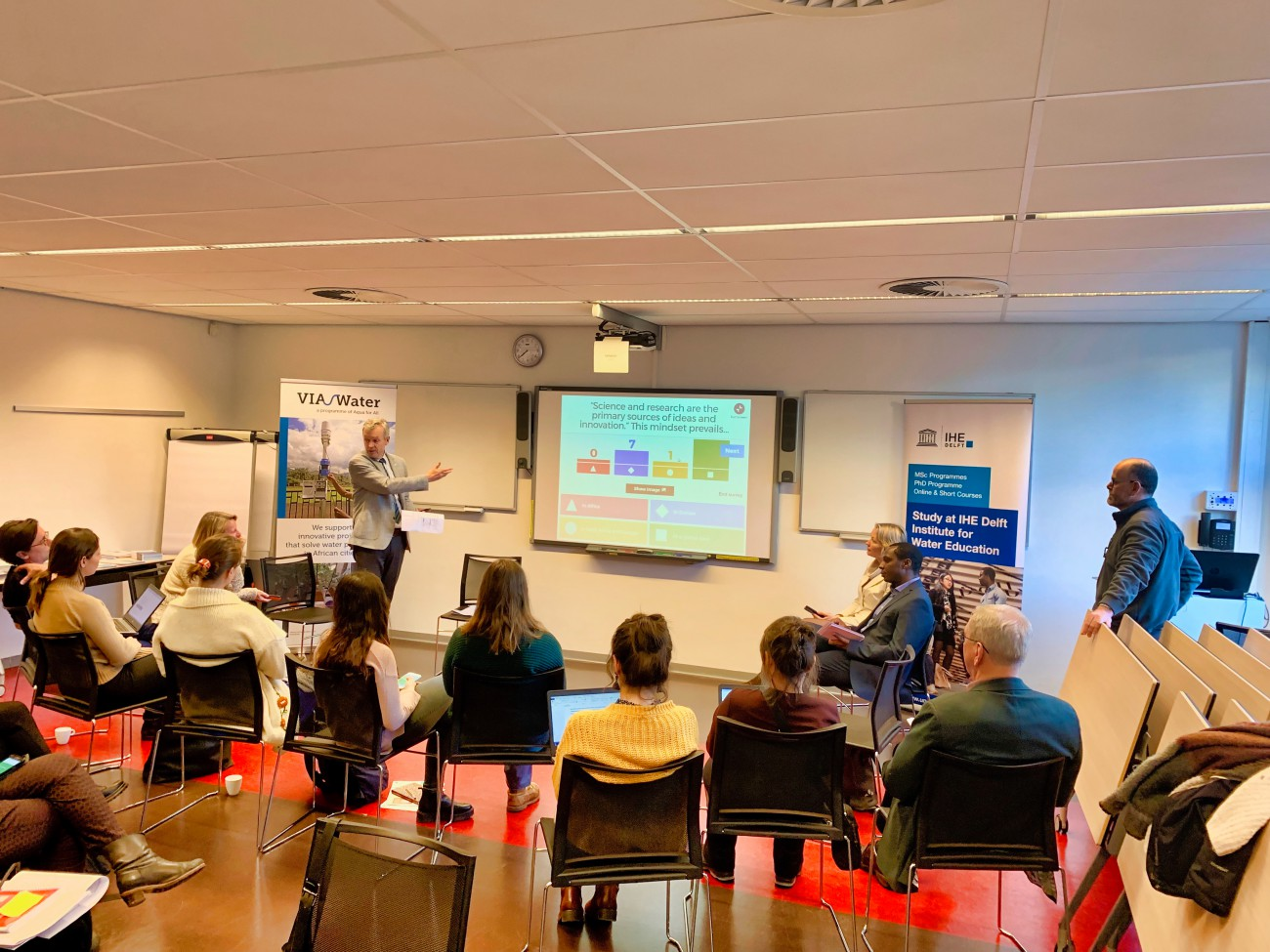 Plenary and Kahoot at the Workshop on Water Innovation in Africa at IHE Delft