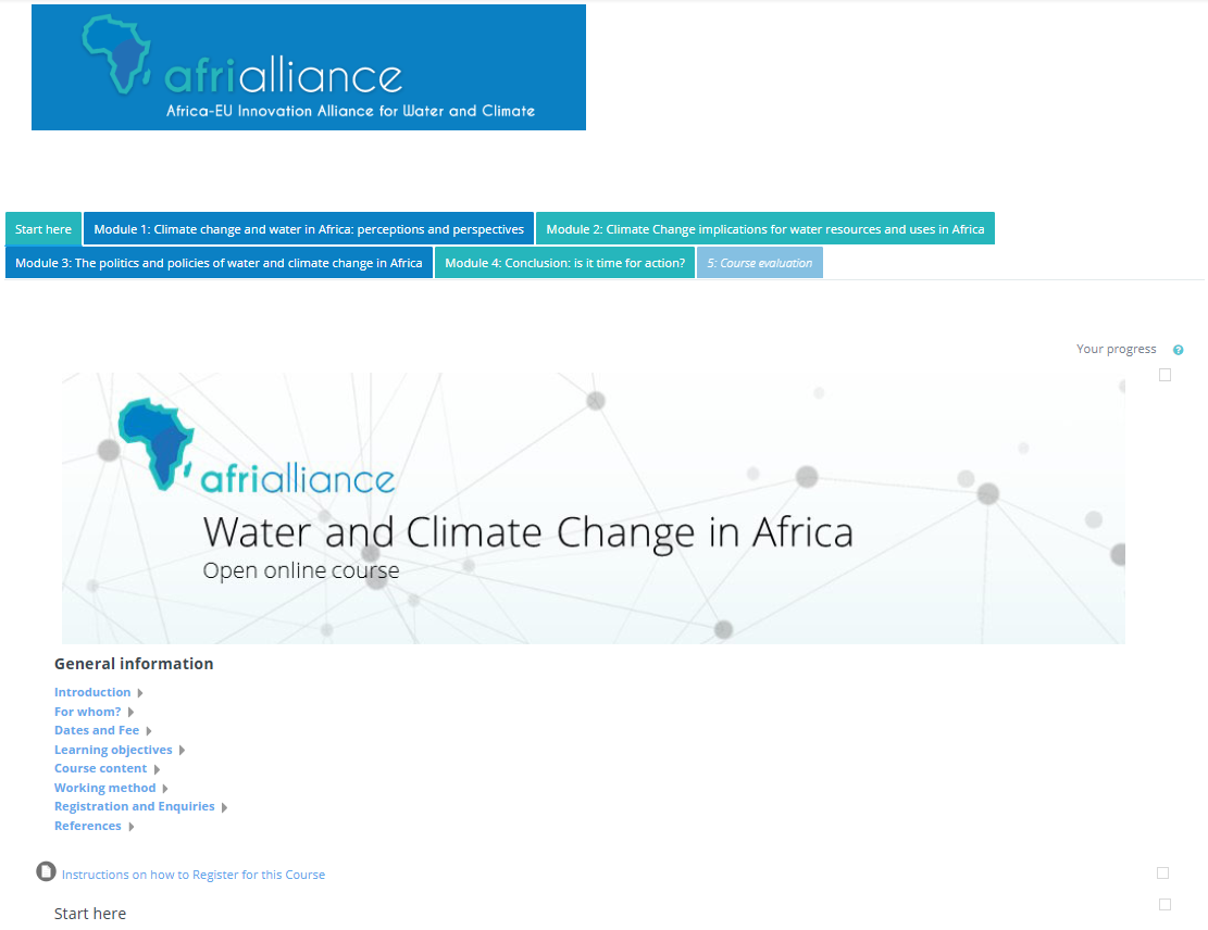 AfriAlliance MOOC online environment