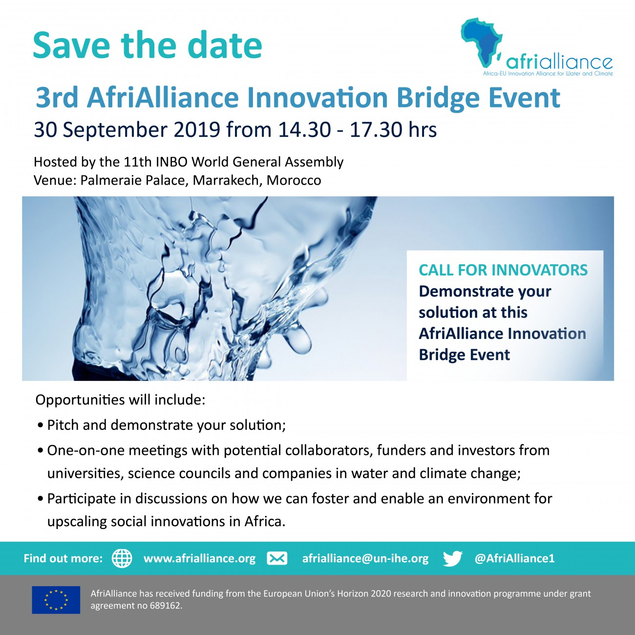 Call for Innovators Save the date