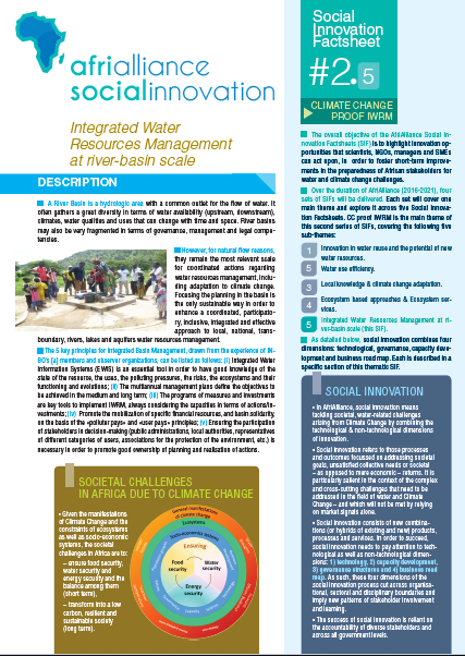 Social Innovation Factsheet #2.5: Integrated Water Resources Management at river-basin scale